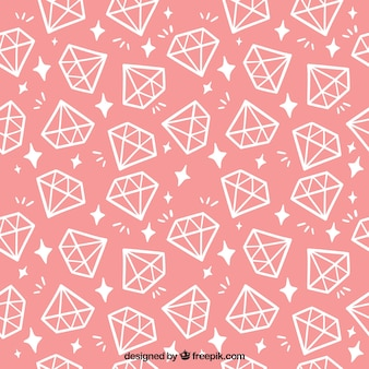 Pink pattern with flat diamonds