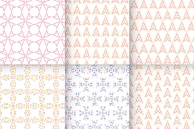 ピンクのパターンデザインリソース
