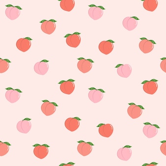 Pink peach seamless pattern