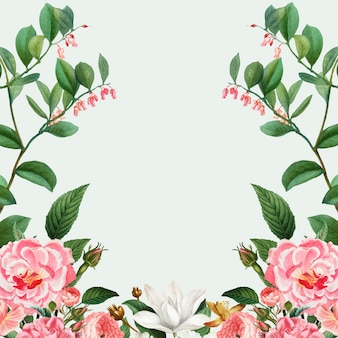 Pink peony frame