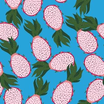 핑크 pitayas 원활한 임의의 패턴입니다.