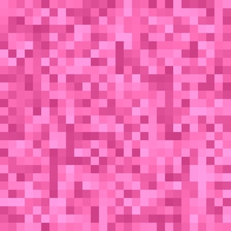 Pink pixel square tiled mosaic background - geometric vector graphic design from colored squares