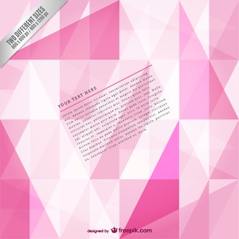 Pink polygonal background template