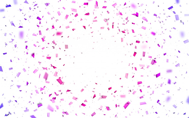 Pink and purple confetti