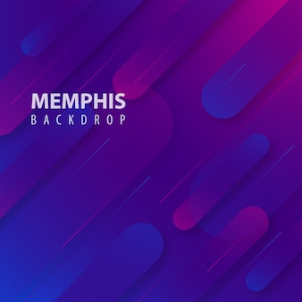 Pink & purple modern memphis background