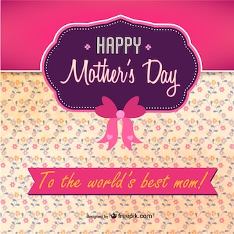 Pink and purple mother's day card