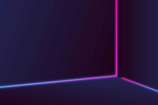 Pink and purple neon lines on a dark background