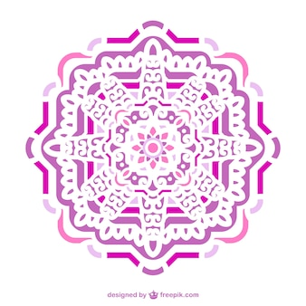 Pink and purple ornament