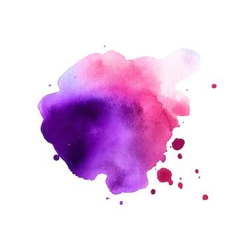 핑크 퍼플 스플래쉬 수채화