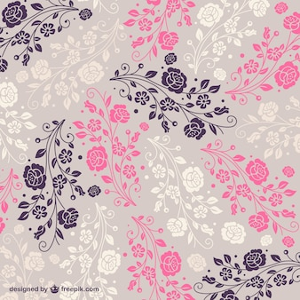 Pink, purple and white floral background