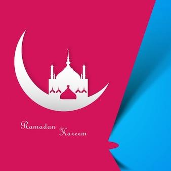 Colorful luminoso ramadan kareem sfondo