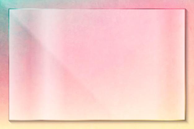 ピンクの長方形のフレームデザイン