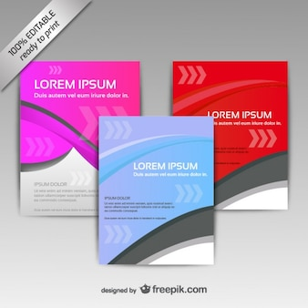 Pink and red brochure template