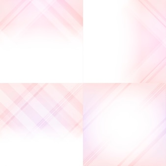 Pink and red gradient abstract background set