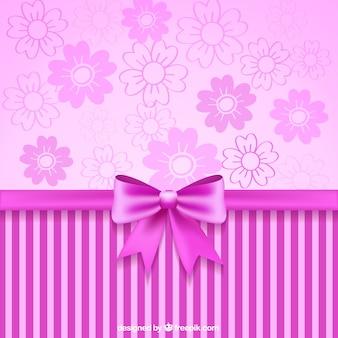 ピンクリボンと装飾壁紙