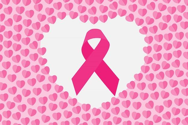 마음에 핑크 리본입니다. 10 월 유방암 인식의 달