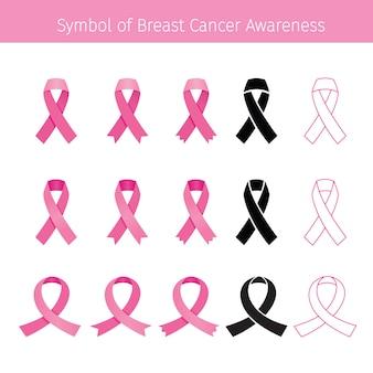 ピンクのリボン、シンボル乳がんの意識