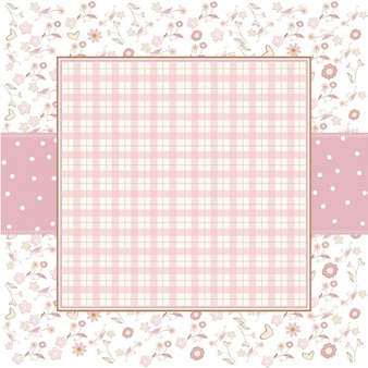 Pink romantic background with little flowers