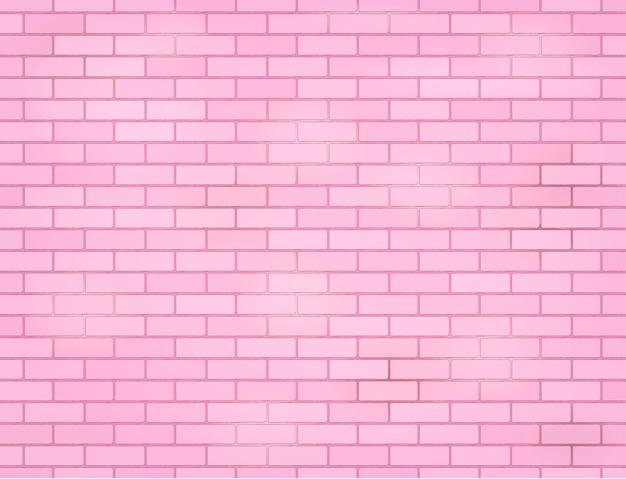 ピンクのバラグランジレンガの壁
