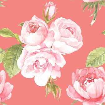 핑크 로즈 패턴 디자인