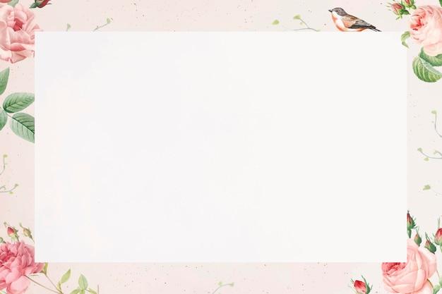 白い背景のベクトルのピンクのバラのパターン