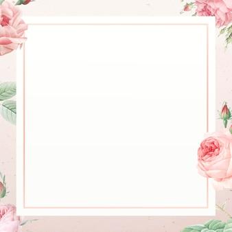 Pink rose pattern on white background