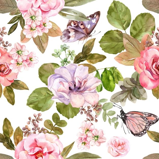 핑크 장미 원활한 패턴입니다.