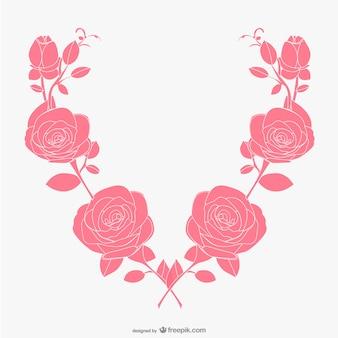 핑크 장미 배경