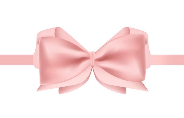 나비 장식 핑크 새틴 리본