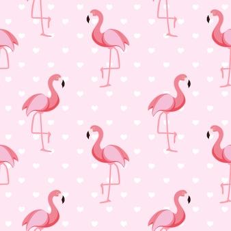 Розовый бесшовные фламинго