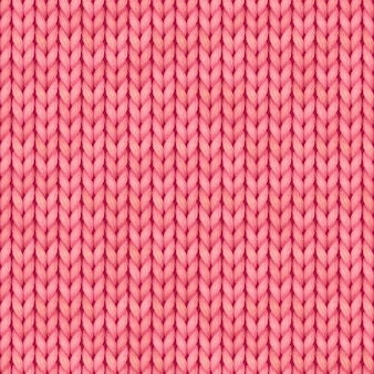 Pink seamless knitted pattern. woolen cloth. christmas red knitted pattern