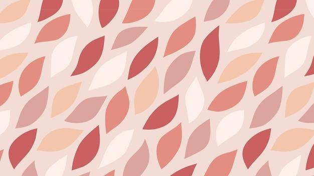 Vettore di sfondo con motivo a foglia rosa senza soluzione di continuità