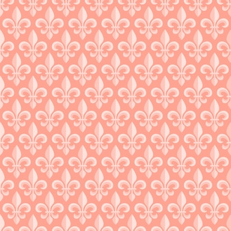 Pink seamless pattern with royal lily