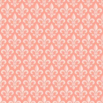 ロイヤルリリーとピンクのシームレスパターン