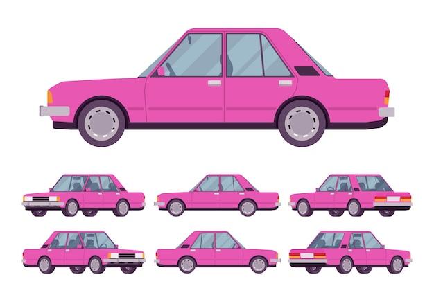 Pink sedan set