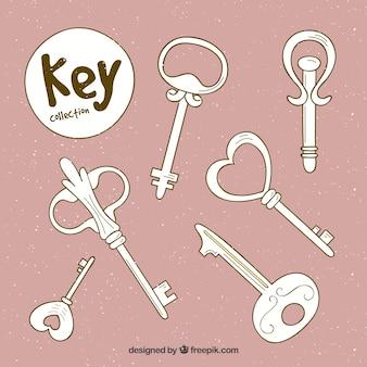 Розовый набор ключей