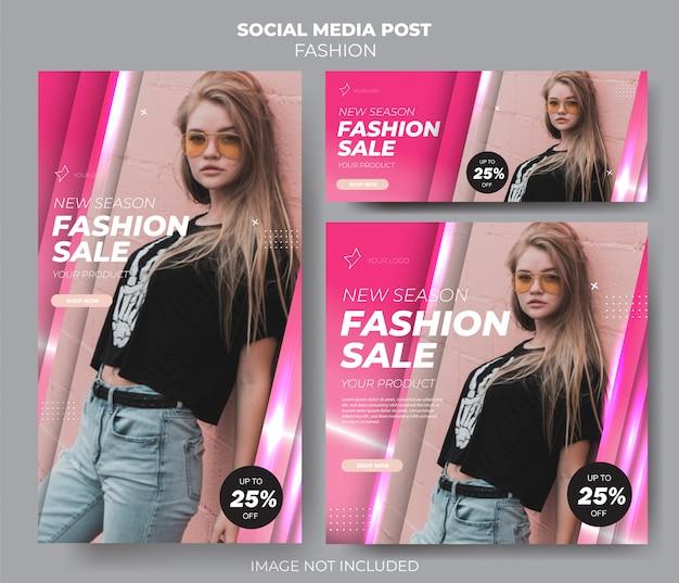 Pink set social media fashion