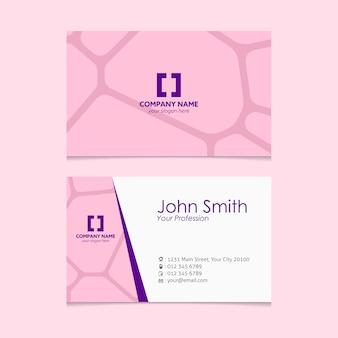 Pink shapes business card design