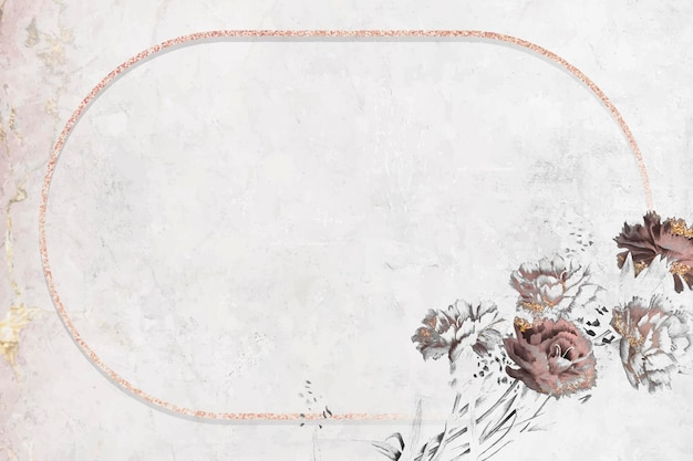 Розовая мерцающая овальная рамка вектор