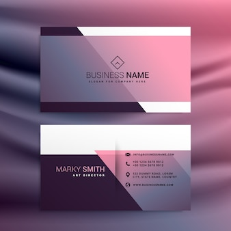 Pink shiny corporate card