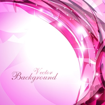 Pink shiny curvy background