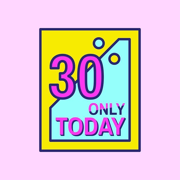Pink shopping sale badge design