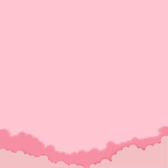 ピンクの雲とコピースペースとピンクの空