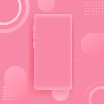Розовый смартфон фон