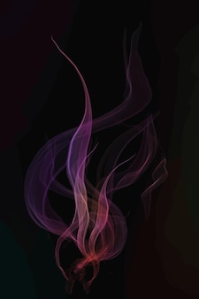 黒の背景のピンクの煙要素ベクトル