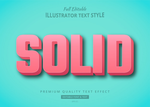 Pink solid  text style effect