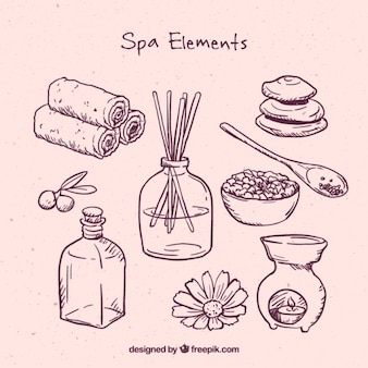 Pink spa elements