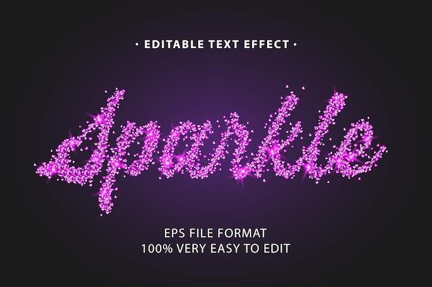 Pink sparkle text effect, editable text