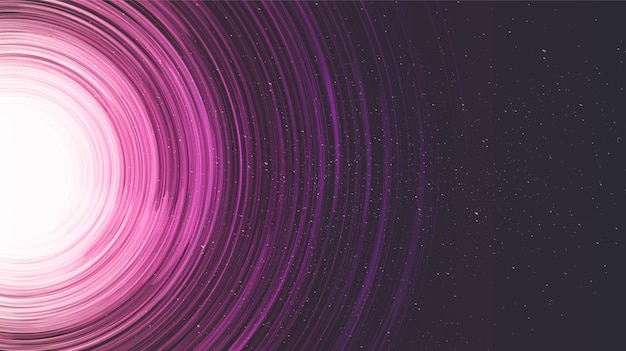 갤럭시 바탕에 핑크 나선형 블랙홀