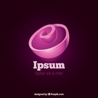 Pink spiral logo